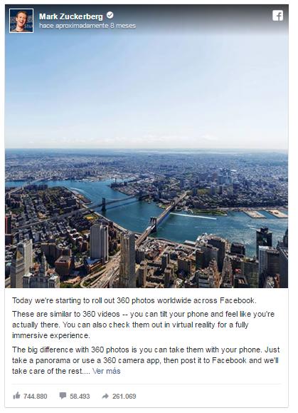 Mark Zuckerberg - Fotografía 360 - DestacaTuCasa